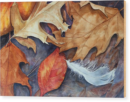 Lost Feather Wood Print by Enola McClincey