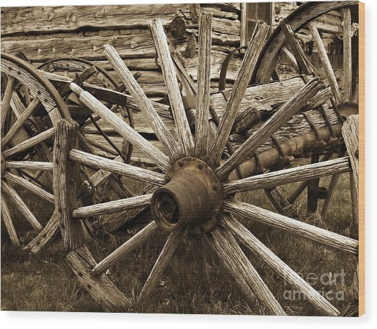 Lost In History Wood Print by Roxanne Marshal