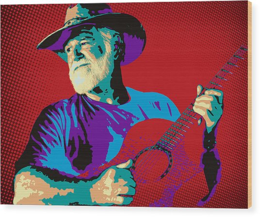 Jack Pop Art Wood Print