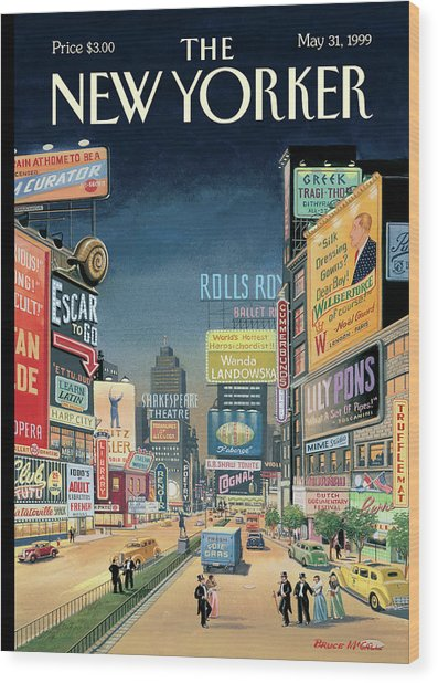 Lost Times Square Wood Print