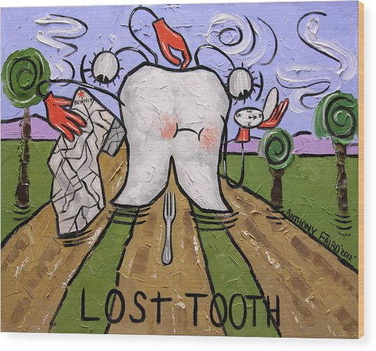 Lost Tooth Wood Print