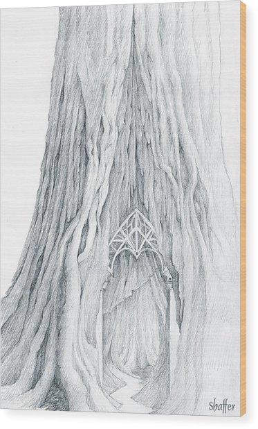 Lothlorien Mallorn Tree Wood Print