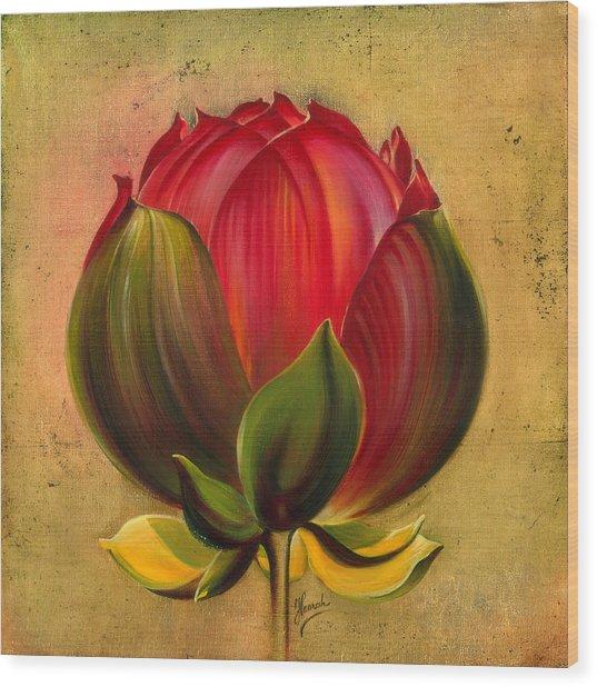 Lotus Bulb Wood Print
