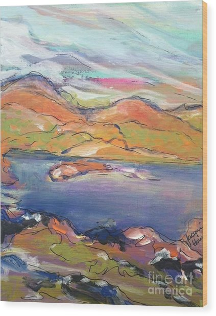 Loughrigg Fell Lake District Wood Print