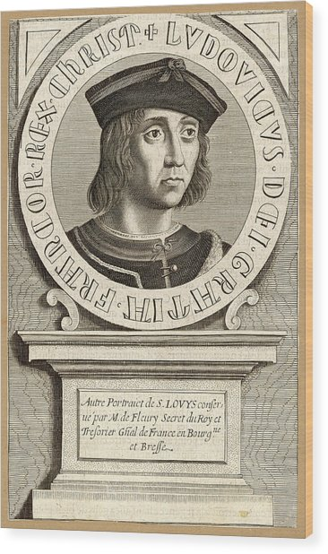 Louis Ix,  King Of France, Crusader Wood Print by Mary Evans Picture Library