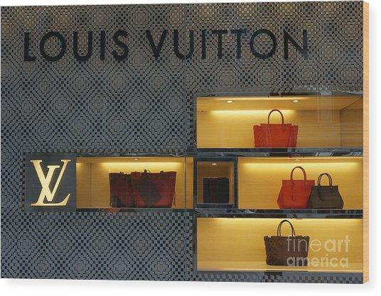 Louis Vuitton Handbags Wood Print