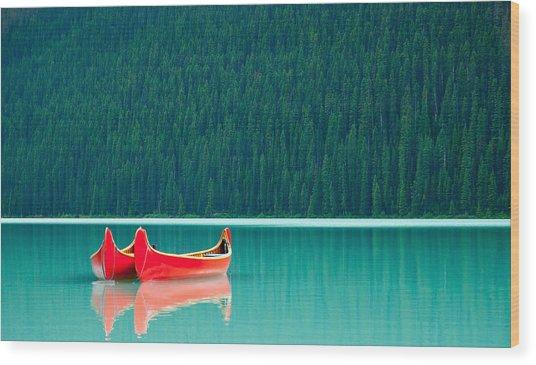 Louise Reflection Wood Print