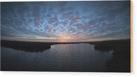 Louisiana Sunrise Wood Print