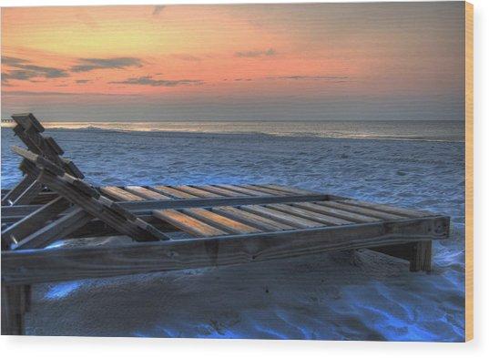 Lounge Closeup On Beach ... Wood Print