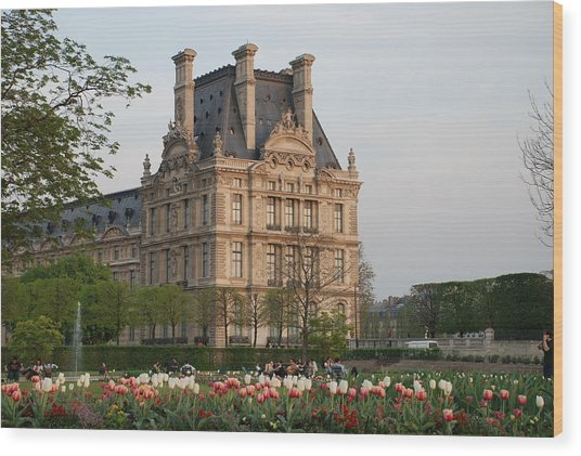 Wood Print featuring the photograph Louvre Museum by Jennifer Ancker