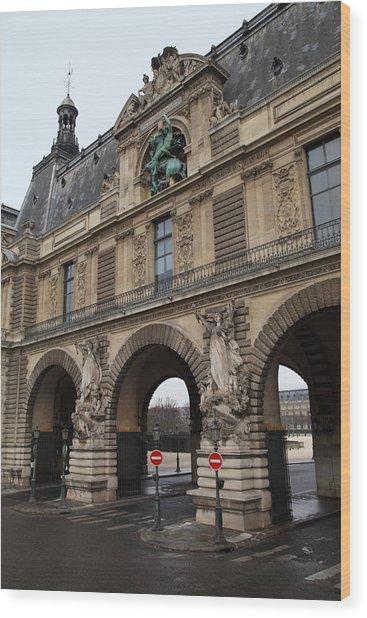 Louvre - Paris France - 011334 Wood Print by DC Photographer