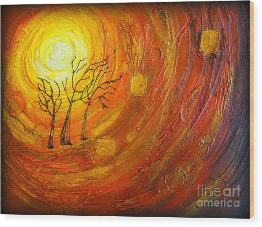 Love And Hope Wood Print