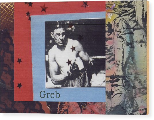 Love And War Greb Wood Print