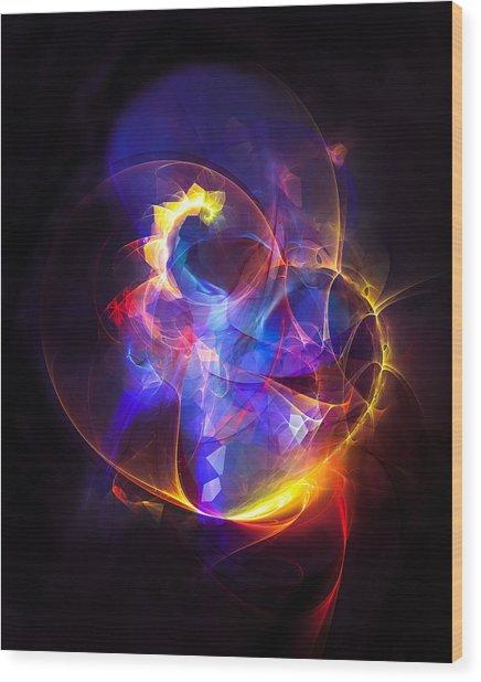 Love Bubble Wood Print
