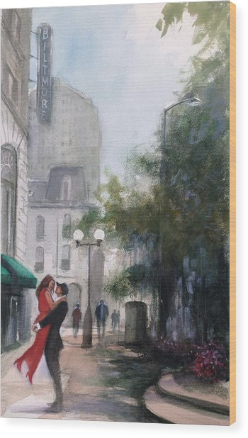Love By The Biltmore Wood Print