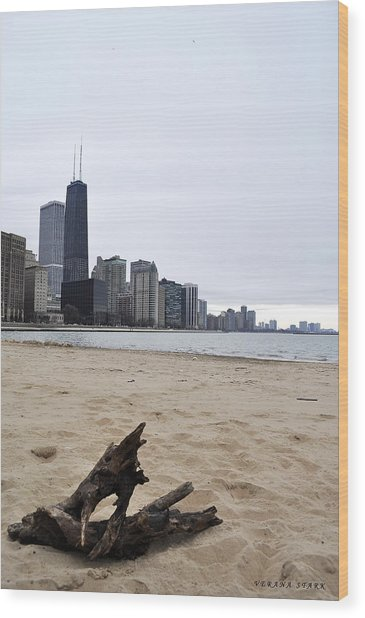 Love Chicago Wood Print