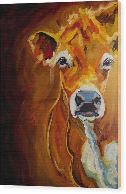 Love Cow Wood Print