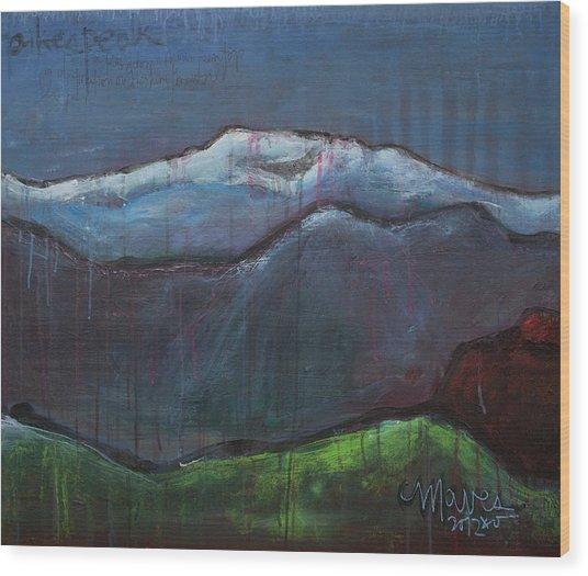 Love For Pikes Peak Wood Print