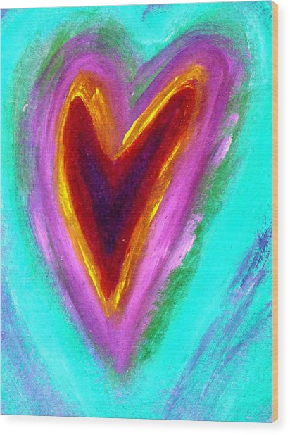 Love From The Heart Wood Print