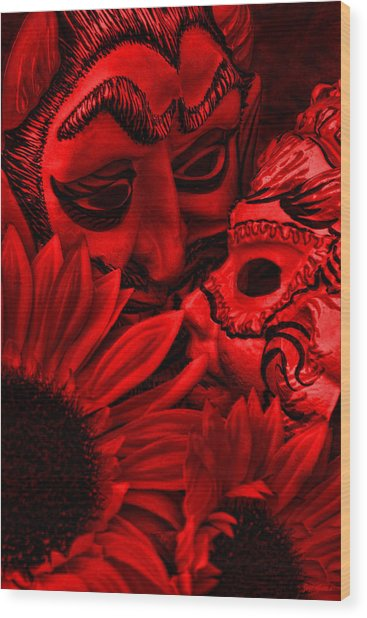 Love In Hell Wood Print