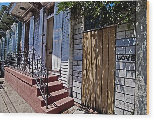 Love In The Marigny Wood Print