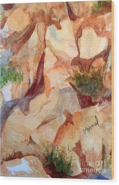 Love In The Rocks Medjugorje 2 Wood Print
