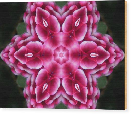 Love Is Divine Mandala Wood Print