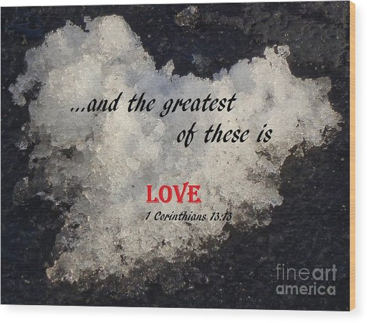 Love Is Great Wood Print