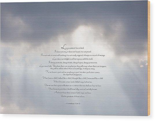 Love Is - II Wood Print