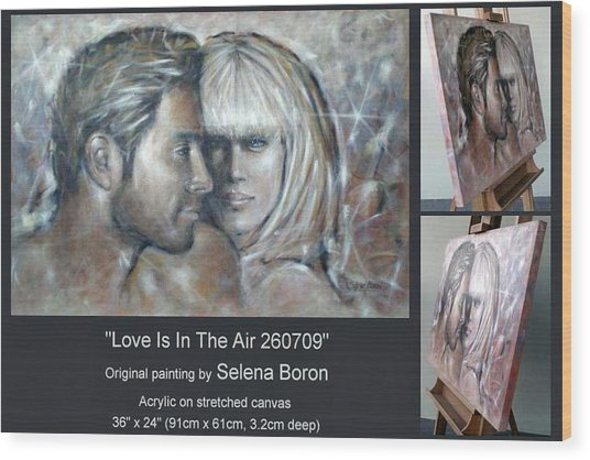 Love Is In The Air 260709 Comp Wood Print