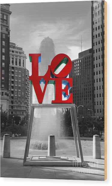 Love Isn't Always Black And White Wood Print