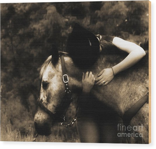 Love Like A Cowgirl Wood Print by Steven Digman