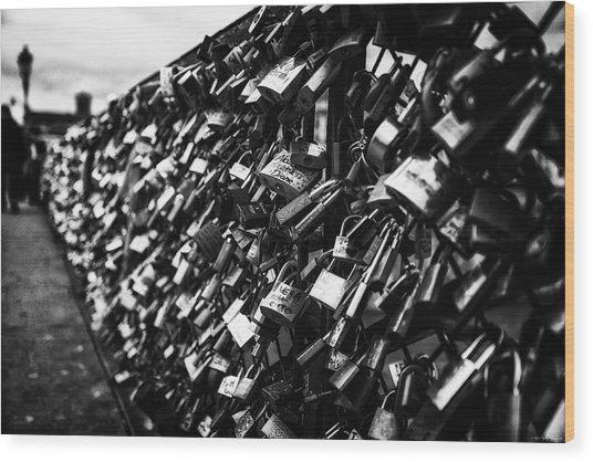 Love Locks Wood Print