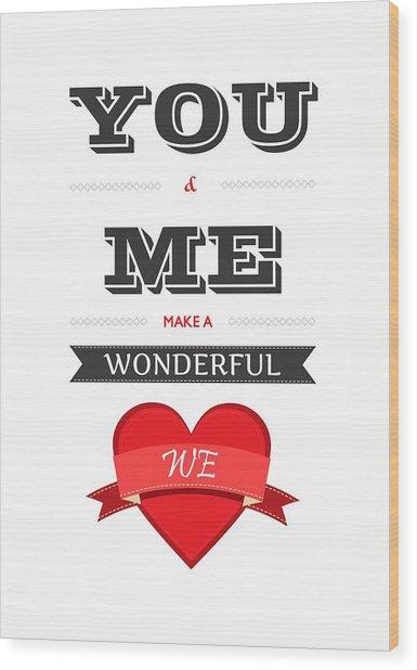 Love Lyrics Quotes Typography Quotes Poster Wood Print