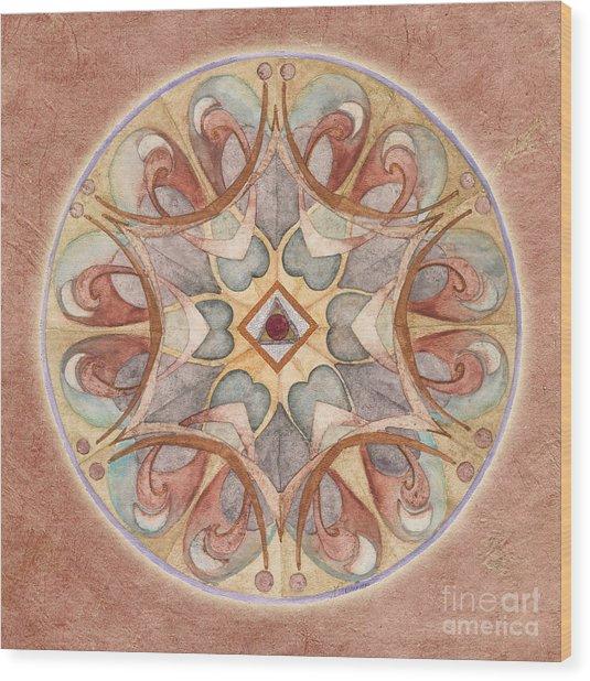Love Mandala Wood Print