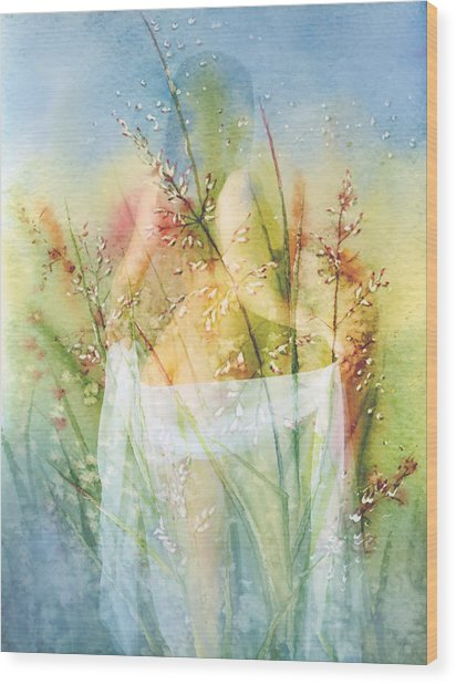 Love Me In The Misty Dawn Wood Print