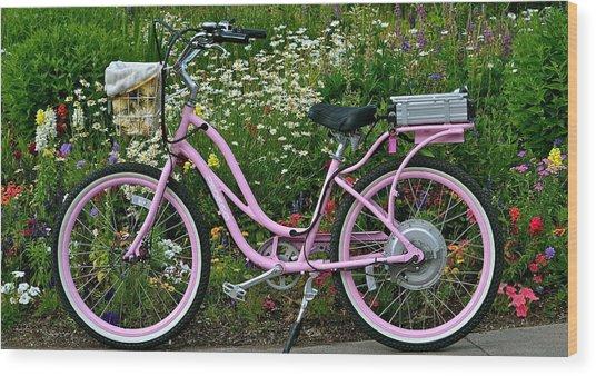Love My Bike Wood Print
