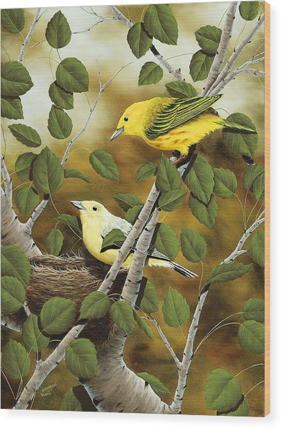 Love Nest Wood Print