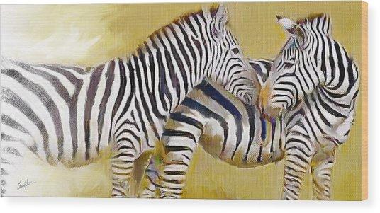 Love On The Savanna Wood Print