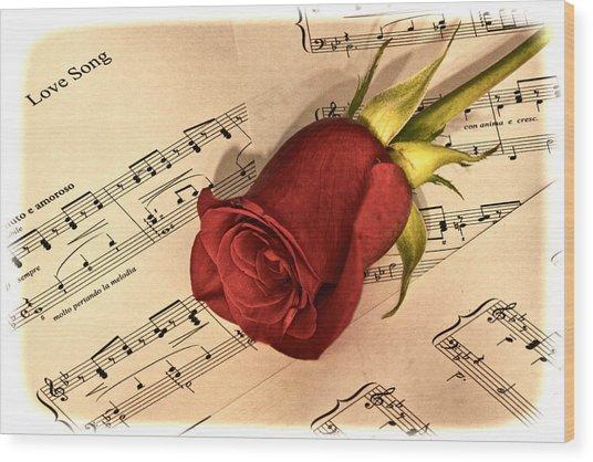 Love Song Wood Print by Zev Steinhardt