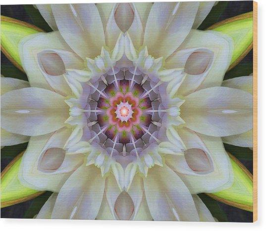 Love Star Flower Mandala Wood Print