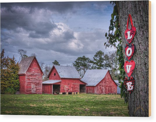 Love The Barns At Windsor Castle Wood Print by Williams-Cairns Photography LLC