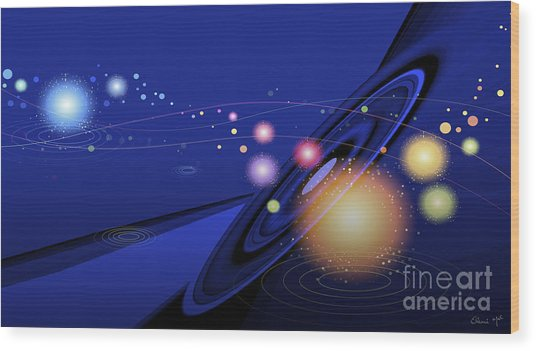Wood Print featuring the digital art Love  Universe by Eleni Mac Synodinos