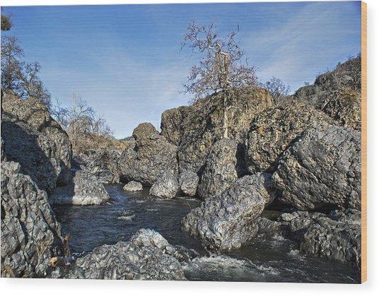 Lovejoy Basalt Formations  Wood Print