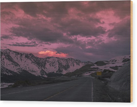 Loveland Pass Sunset Wood Print