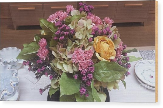 Lovely Bouquet  Wood Print