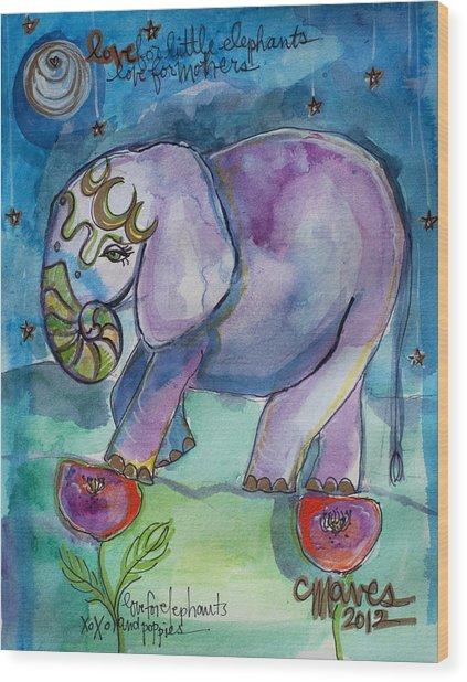 Lovely Little Elephant2 Wood Print