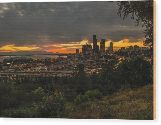 Lovely Seattle Wood Print