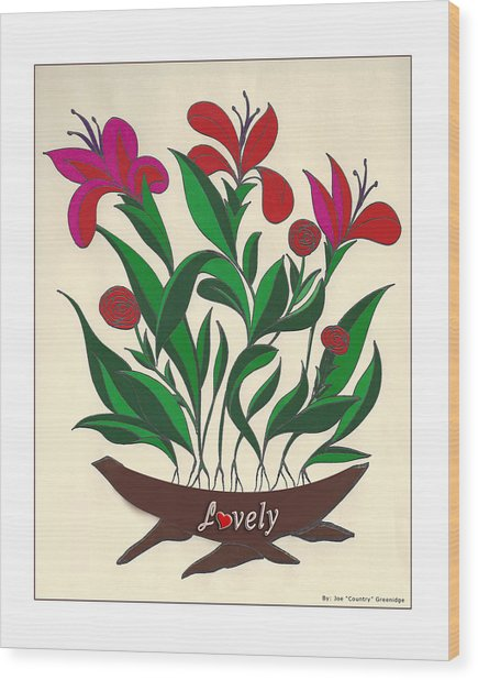 Lovely White Boarder Wood Print by Joe Greenidge