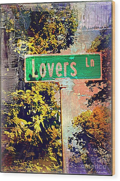 Lovers Lane Wood Print